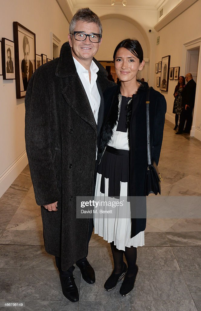 Jay Jopling and Hikari Yokoyama attend a private view of Bailey's Stardust a exhibition of images by David Bailey supported by Hugo Boss at the...