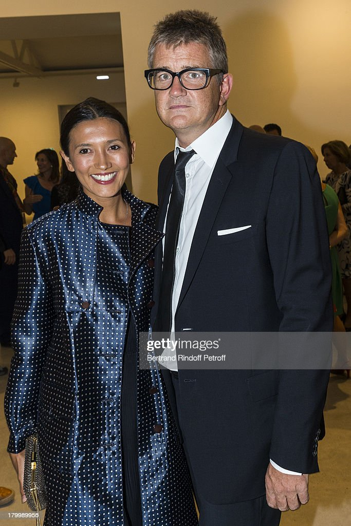 Jay Jopling (R) and Hikari Yokoyama attend the Georg Baselitz exhibition preview and dinner at Thaddeus Ropac Gallery on September 7, 2013 in Pantin, east of Paris, France. The exhibition opens on September 8.