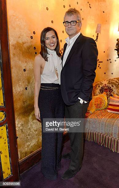 Jay Jopling and Hikari Yokoyama attend the Kilian Boutique Launch Party at Loulou's on February 10 2016 in London England