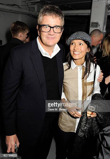 Jay Jopling and Hikari Yokoyama attend the launch of artist Dinos Chapman's first album 'Luftbobler' at The Vinyl Factory on February 27 2013 in...
