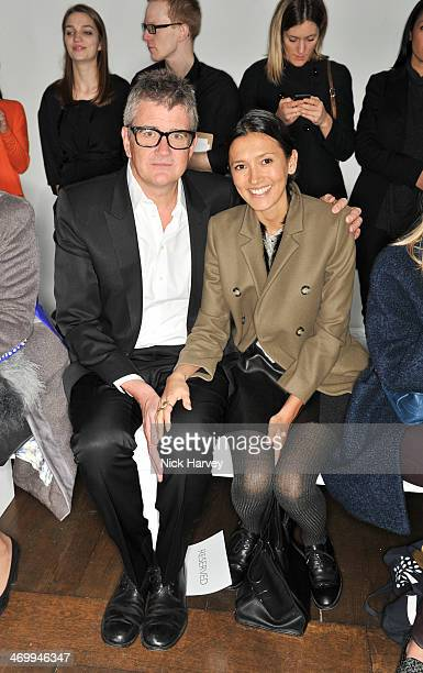 Jay Jopling and Hikari Yokoyama attend the Mother of Pearl presentation at London Fashion Week AW14 at ICA on February 17 2014 in London England