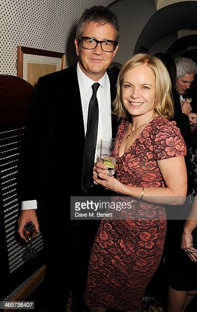 Jay Jopling and Mariella Frostrup attend the Charles Finch and Chanel PreBAFTA cocktail party and dinner at Annabel's on February 8 2013 in London...