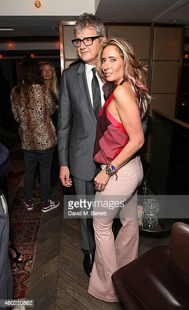 Jay Jopling and Tara Bernard attend Tara Bernard Jade Jagger's Christmas Party at the Belgraves Hotel on December 9 2014 in London England