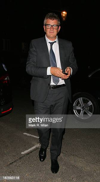Jay Jopling leaving the Tabernacle after James Blunts performance on September 30 2013 in London England