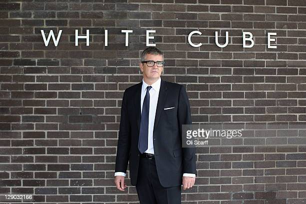 Jay Jopling owner of the White Cube galleries poses outside the new White Cube gallery in Bermondsey on October 11 2011 in London England The third...