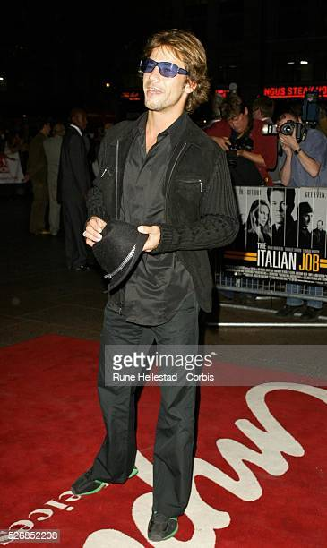 Jay Kay attends the premiere of 'The Italian Job' at the Empire Cinema in Leicester Square