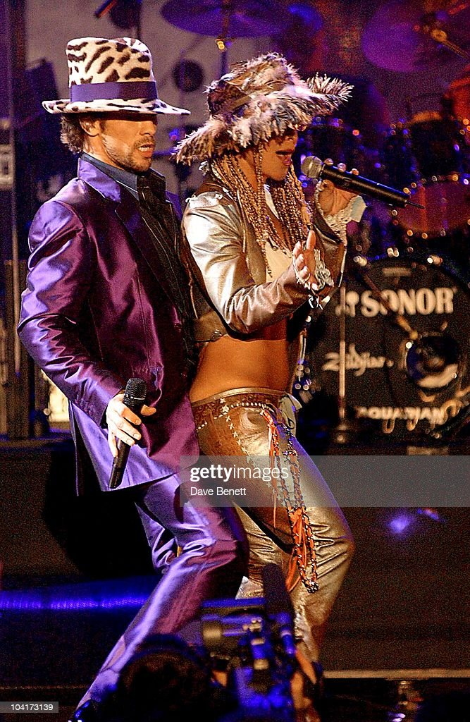 Jay Kay 'Jamiroquai' & Anastasia, The Brit Awards 2002 Held At Earl's Court In London.