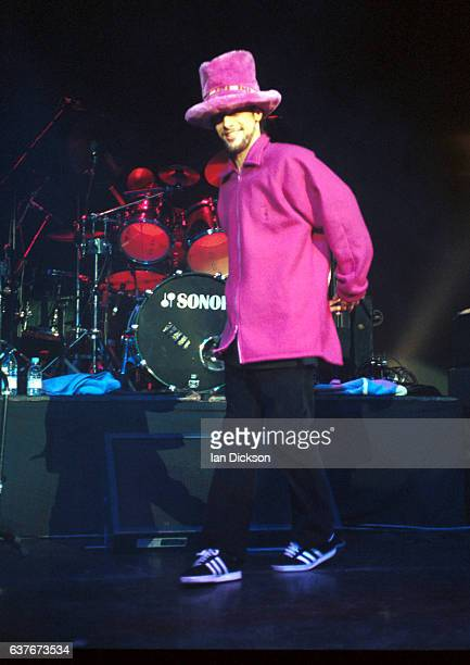 Jay Kay of Jamiroquai performing on stage at The Forum Kentish Town London 11 November 1996