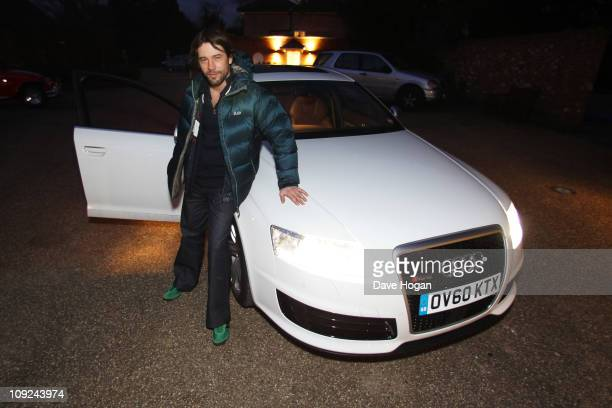 Jay Kay of Jamiroquai performs for a Biz Session to promote their new album Rock Dust Light Star held at Jay Kay's private home studio on January 28...