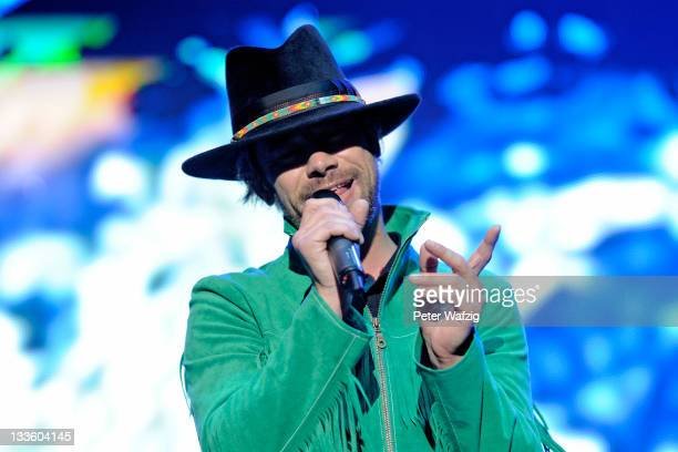 Jay Kay of Jamiroquai performs on stage at the KoenigPilsenerArena on November 20 2011 in Oberhausen Germany