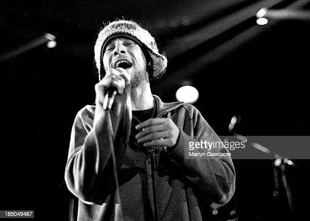 Jay Kay of Jamiroquai performs on stage United Kingdom 1995