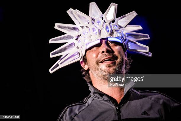 Jay Kay of the english acid jazz band Jamiroquai pictured on stage as they perform at MoonampStars Festival 2017 in Locarno Switzerland on 18 July...