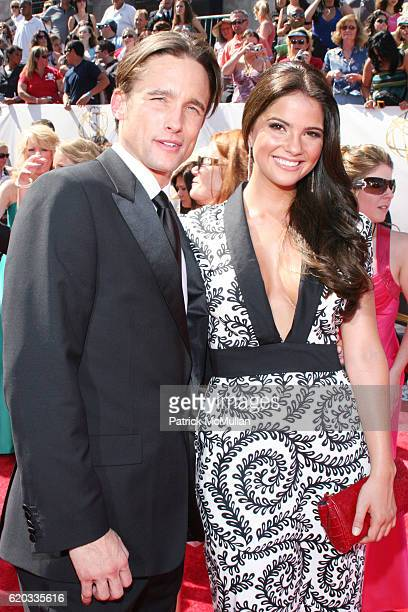 Jay Kenneth Johnson and Shelley Hennig attend 2008 Daytime Emmy Awards at Kodak Theatre on June 20 2008 in Hollywood CA