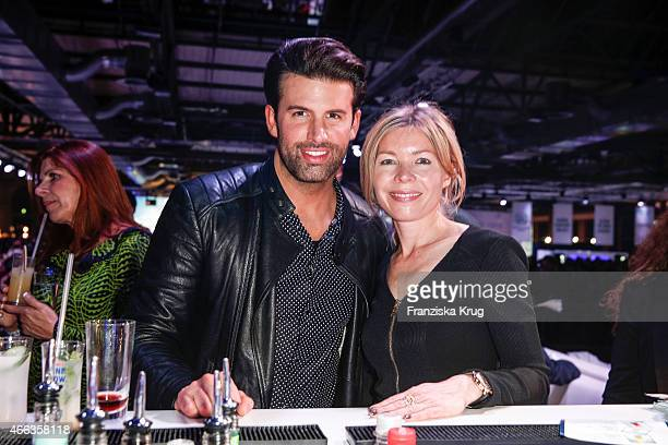 Jay Khan and Tina IngwersenMatthiesen attend the Spirit of Istanbul by Yeni Raki on March 14 2015 in Berlin Germany