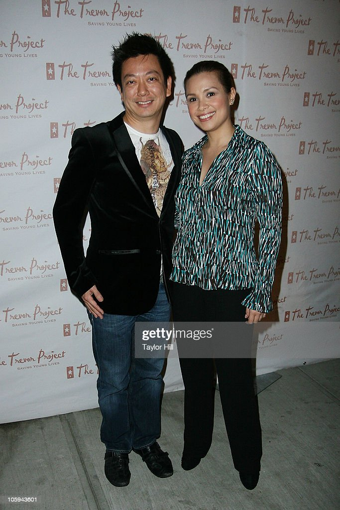 Jay Kuo (L) and <a gi-track='captionPersonalityLinkClicked' href=/galleries/search?phrase=Lea+Salonga&family=editorial&specificpeople=2179610 ng-click='$event.stopPropagation()'>Lea Salonga</a> attend the Trevor's Fall Fete at Theory Flagship Store on October 21, 2010 in New York City.