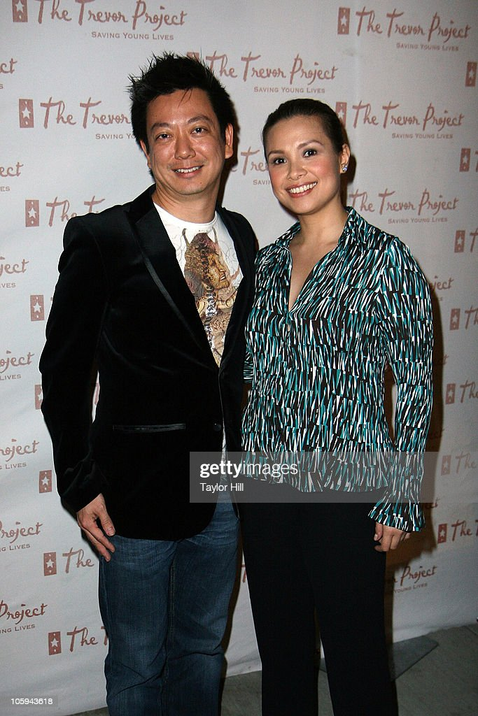 Jay Kuo (L) and Lea Salonga attend the Trevor's Fall Fete at Theory Flagship Store on October 21, 2010 in New York City.