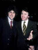Jay Leno and Fred Travalena during Johnny Mathis 25th Anniversary Party 1981 at Beverly Hilton Hotel in New York New York United States
