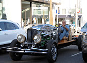 Jay Leno and his Dusenberg are seen on August 18 2015 in Los Angeles California
