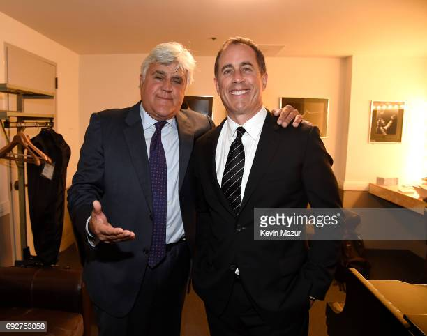Jay Leno and Jerry Seinfeld attend the National Night Of Laughter And Song event hosted by David Lynch Foundation at the John F Kennedy Center for...