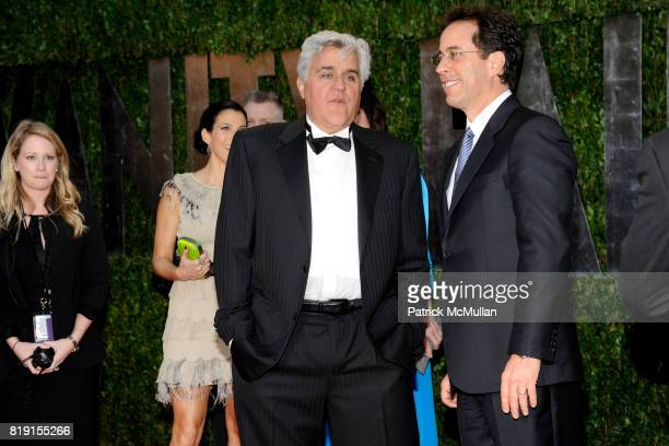 Jay Leno and Jerry Seinfeld attend VANITY FAIR Oscar Party ARRIVALS at Sunset Tower Hotel on March 7 2010 in West Hollywood California