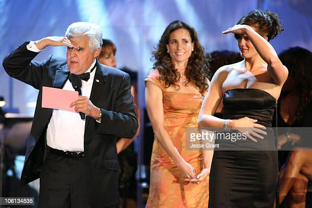 Jay Leno Andie MacDowell and Brooke Shields during MercedesBenz Presents the 17th Carousel of Hope Ball Show at Beverly Hills Hilton in Beverly Hills...