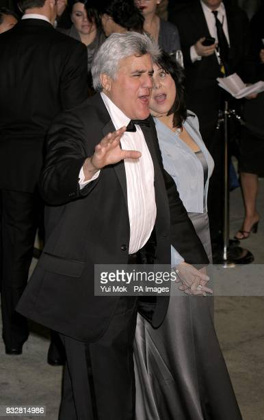 Jay Leno arrives for the annual Vanity Fair Party at Mortons Restaurant Los Angeles