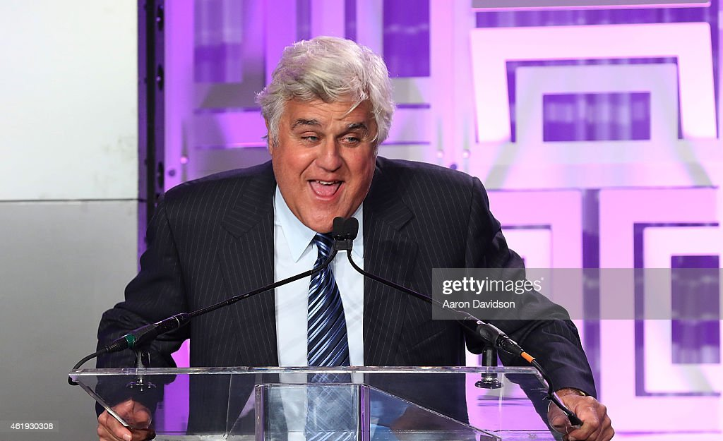Jay Leno attends 2th Annual Brandon Tartikoff Legacy Awards at NATPE 2015 at Fontainebleau Miami Beach on January 21 2015 in Miami Beach Florida