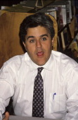 Jay Leno during Autographing New Book 'Headlines' October 11 1990 at Barnes Nobles Bookstore in New York City New York United States