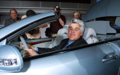 Jay Leno during Jay Leno Presents the 2003 Mercedes SL 500 at Los Angeles Convention Center in Los Angeles California