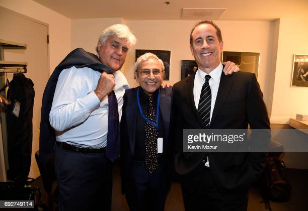 Jay Leno George Shapiro and Jerry Seinfeld attend the National Night Of Laughter And Song event hosted by David Lynch Foundation at the John F...