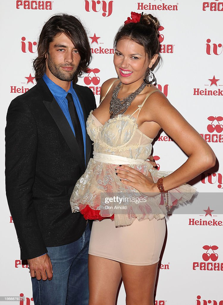 Jay Lyon and guest pose at the Pacha Launch at the Ivy on November 24, 2012 in Sydney, Australia.