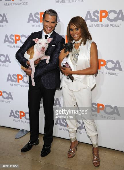 Jay Manuel and Deborah Cox attend the ASPCA'S 18th Annual Bergh Ball honoring Edie Falco and Hilary Swank at The Plaza Hotel on April 9 2015 in New...