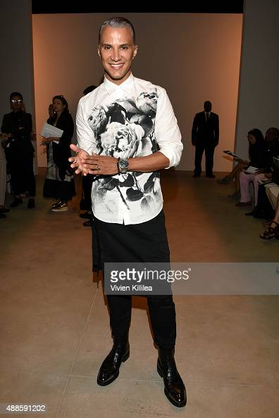Jay Manuel attends Bibhu Mohapatra Spring 2016 during New York Fashion Week The Shows at The Gallery Skylight at Clarkson Sq on September 16 2015 in...