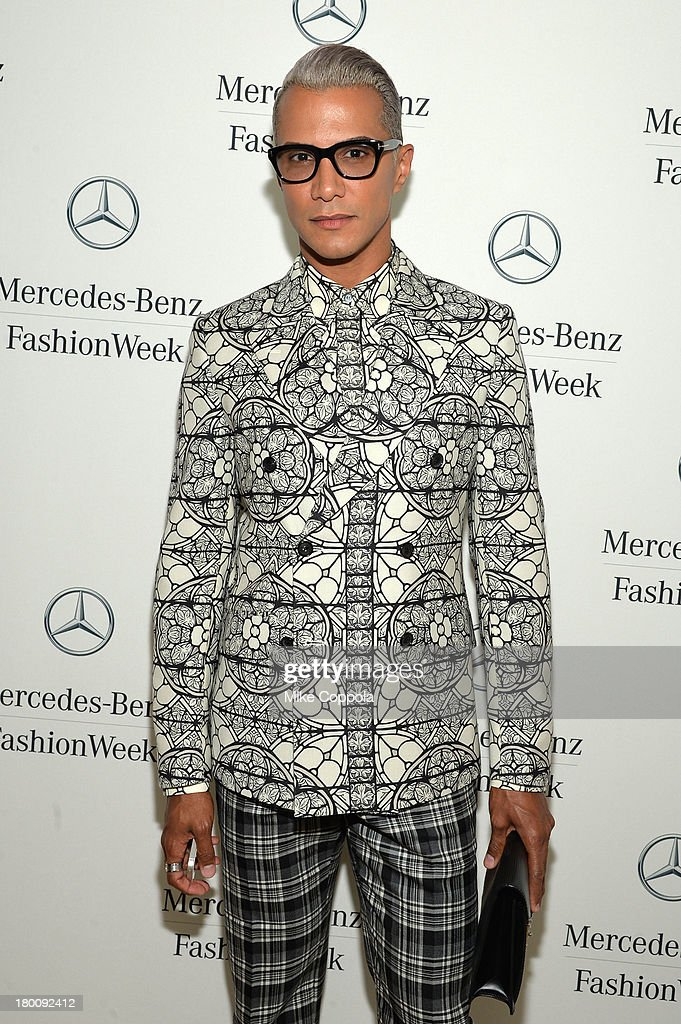 <a gi-track='captionPersonalityLinkClicked' href=/galleries/search?phrase=Jay+Manuel&family=editorial&specificpeople=557434 ng-click='$event.stopPropagation()'>Jay Manuel</a> attends the Mercedes-Benz Star Lounge during Mercedes-Benz Fashion Week Spring 2014 on September 8, 2013 in New York City.