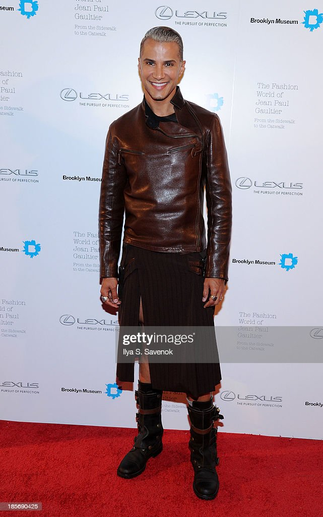 <a gi-track='captionPersonalityLinkClicked' href=/galleries/search?phrase=Jay+Manuel&family=editorial&specificpeople=557434 ng-click='$event.stopPropagation()'>Jay Manuel</a> attends the VIP reception and viewing for The Fashion World of Jean Paul Gaultier: From the Sidewalk to the Catwalk at the Brooklyn Museum on October 23, 2013 in the Brooklyn borough of New York City.