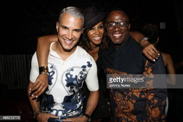 Jay Manuel June Ambrose and DJ MOS attend Beth Ann Hardison's 2014 CFDA Award Celebration at Marquee on June 1 2014 in New York City