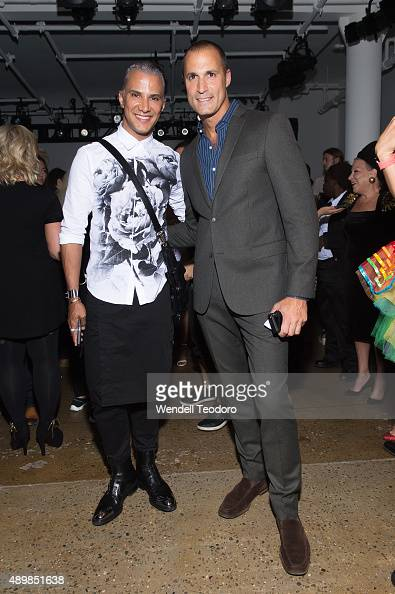 Jay Manuel Nigel Barker attend The Blondes show at Milk Studios as part of the 'NYFW The Shows' Spring 2016 New York Fashion Week on September 16...