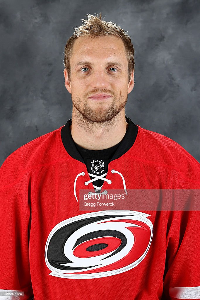 <a gi-track='captionPersonalityLinkClicked' href=/galleries/search?phrase=Jay+McClement&family=editorial&specificpeople=575233 ng-click='$event.stopPropagation()'>Jay McClement</a> #18 of the Carolina Hurricanes poses for his official headshot for the 2014-2015 season at Carolina Family Practice on September 18, 2014 in Raleigh, North Carolina.
