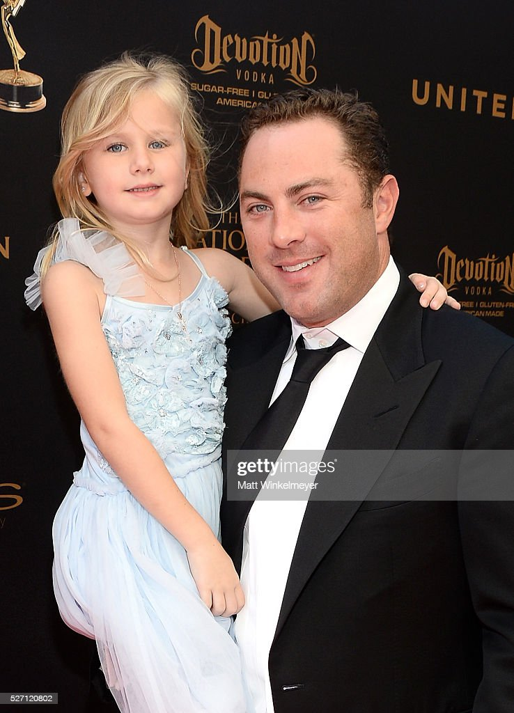 Jay McGraw and daughter Avery walk the red carpet at the 43rd Annual Daytime Emmy Awards at the Westin Bonaventure Hotel on May 1, 2016 in Los Angeles, California.