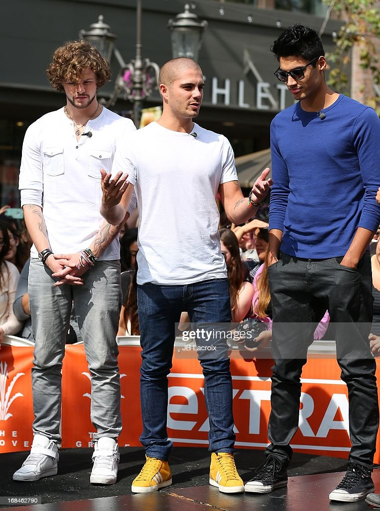 <a gi-track='captionPersonalityLinkClicked' href=/galleries/search?phrase=Jay+McGuiness&family=editorial&specificpeople=7039806 ng-click='$event.stopPropagation()'>Jay McGuiness</a>, <a gi-track='captionPersonalityLinkClicked' href=/galleries/search?phrase=Max+George&family=editorial&specificpeople=7039808 ng-click='$event.stopPropagation()'>Max George</a> and <a gi-track='captionPersonalityLinkClicked' href=/galleries/search?phrase=Siva+Kaneswaran&family=editorial&specificpeople=7039810 ng-click='$event.stopPropagation()'>Siva Kaneswaran</a> are seen on May 9, 2013 in Los Angeles, California.