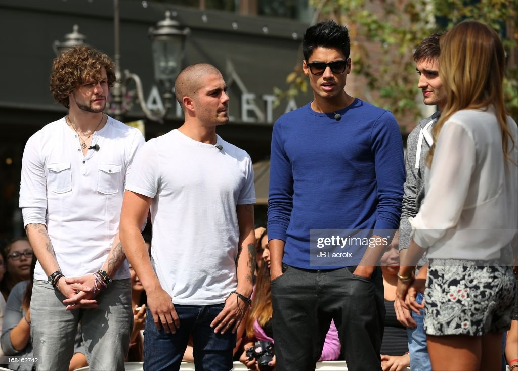 <a gi-track='captionPersonalityLinkClicked' href=/galleries/search?phrase=Jay+McGuiness&family=editorial&specificpeople=7039806 ng-click='$event.stopPropagation()'>Jay McGuiness</a>, <a gi-track='captionPersonalityLinkClicked' href=/galleries/search?phrase=Max+George&family=editorial&specificpeople=7039808 ng-click='$event.stopPropagation()'>Max George</a>, <a gi-track='captionPersonalityLinkClicked' href=/galleries/search?phrase=Siva+Kaneswaran&family=editorial&specificpeople=7039810 ng-click='$event.stopPropagation()'>Siva Kaneswaran</a>, Tom Parker and Renee Bargh are seen on May 9, 2013 in Los Angeles, California.