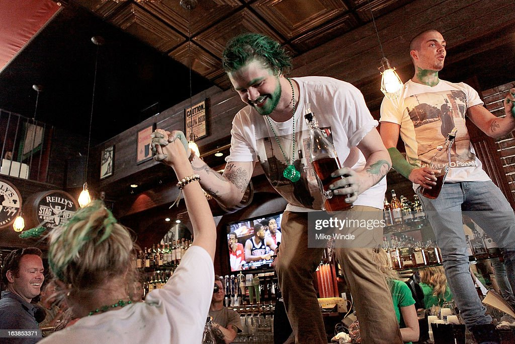 Jay McGuiness of The Wanted attends Rock & Reilly's Irish Rock Pub hosts 2nd annual St. Paddy's block party on Sunset Strip on March 16, 2013 in West Hollywood, California.