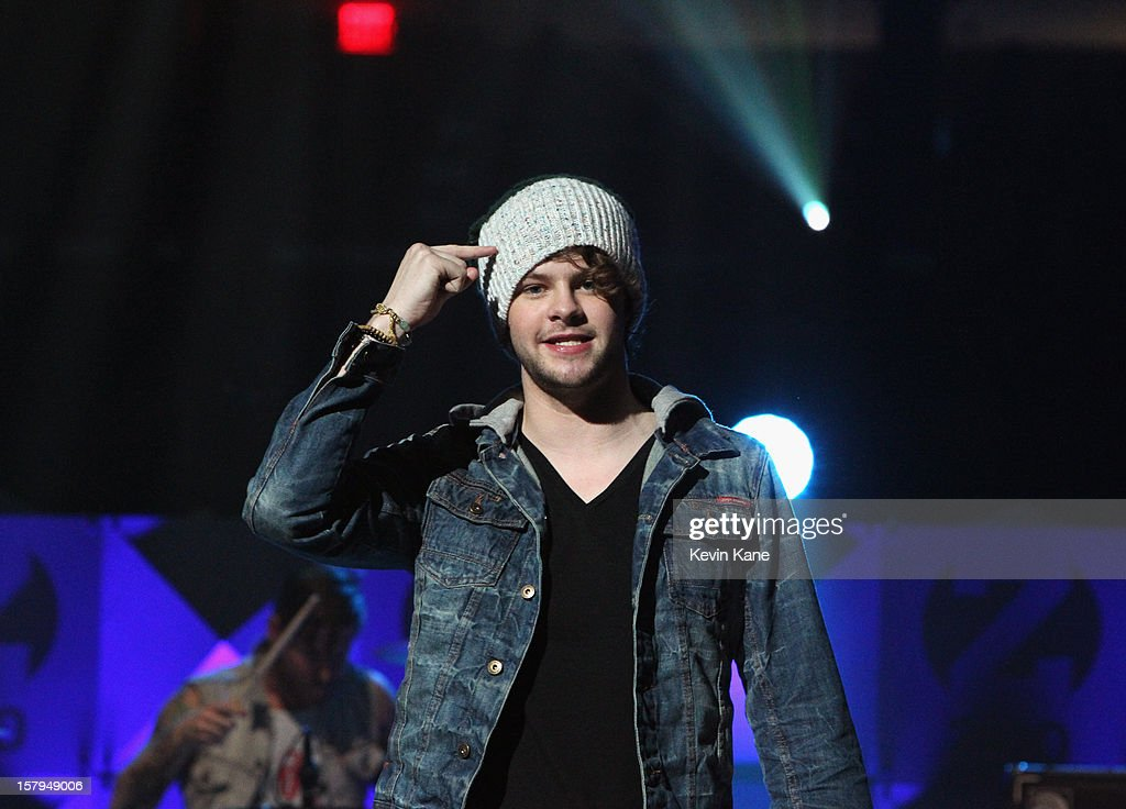 <a gi-track='captionPersonalityLinkClicked' href=/galleries/search?phrase=Jay+McGuiness&family=editorial&specificpeople=7039806 ng-click='$event.stopPropagation()'>Jay McGuiness</a> of The Wanted performs onstage during Z100's Jingle Ball 2012, presented by Aeropostale, at Madison Square Garden on December 7, 2012 in New York City.