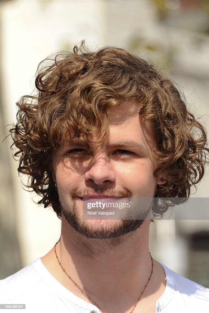 <a gi-track='captionPersonalityLinkClicked' href=/galleries/search?phrase=Jay+McGuiness&family=editorial&specificpeople=7039806 ng-click='$event.stopPropagation()'>Jay McGuiness</a> of The Wanted visits 'Extra' at The Grove on May 9, 2013 in Los Angeles, California.