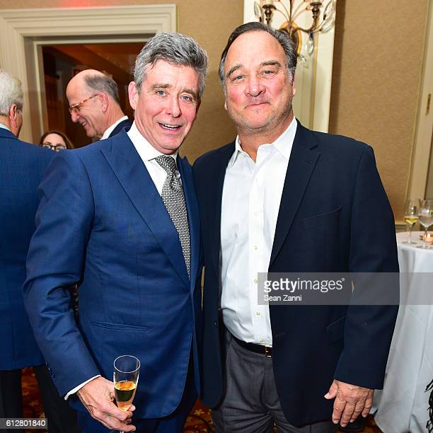 Jay McInerney and Jim Belushi attend Jay McInerney Book Party for 'Bright Precious Days' Hosted by Audrey Gruss at 21 Club on October 4 2016 in New...