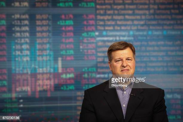Jay Pelosky founder and president of Pelosky Global Strategies listens during a Bloomberg Television interview in New York US on Wednesday April 19...