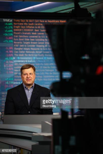 Jay Pelosky founder and president of Pelosky Global Strategies smiles during a Bloomberg Television interview in New York US on Wednesday April 19...