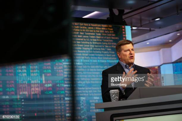 Jay Pelosky founder and president of Pelosky Global Strategies speaks during a Bloomberg Television interview in New York US on Wednesday April 19...