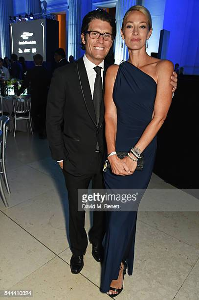 Jay Penske and Elaine Irwin attend the 2016 FIA Formula E Visa London ePrix gala dinner at The British Museum on July 3 2016 in London England