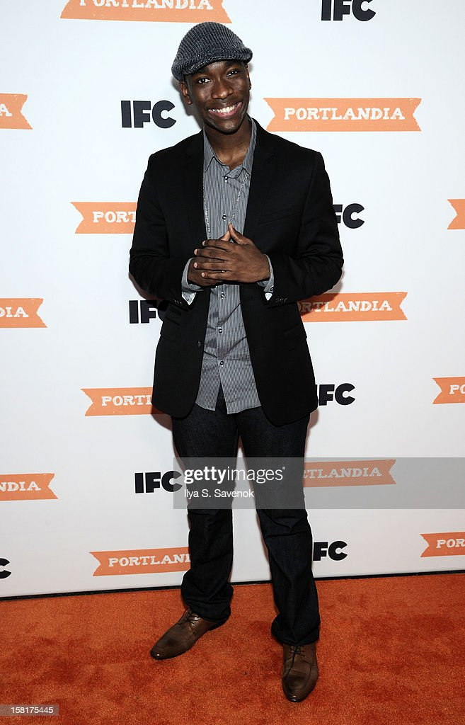 <a gi-track='captionPersonalityLinkClicked' href=/galleries/search?phrase=Jay+Pharoah&family=editorial&specificpeople=7252581 ng-click='$event.stopPropagation()'>Jay Pharoah</a> attends IFC's 'Portlandia' Season 3 New York Premiere at American Museum of Natural History on December 10, 2012 in New York City.